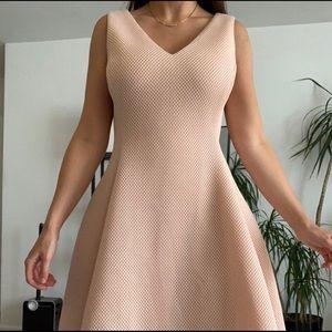 Summer waffle a-line sleeveless dress.